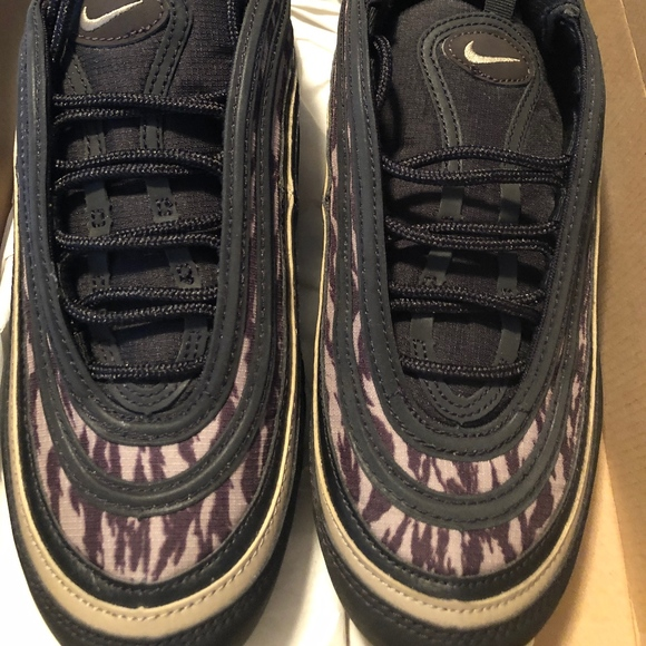 UK Nike Air Max 97 Aop Black Sneaker BlackKhaki velvetbrown